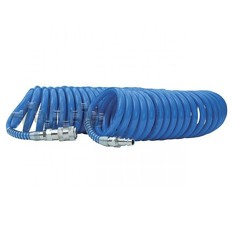 Шланг спиральный полиуретановый 8*12 мм, 20м с быстроразъемными соединениями INTERTOOL
