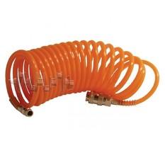 Шланг спиральный с быстроразъемным соединением 10 м INTERTOOL