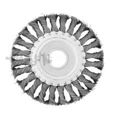 Щетка кольцевая 125x22,2 мм (пучки витой проволоки) INTERTOOL