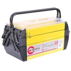 Ящик для инструментов металлический, 18, 5 секций, 454x210x230 мм INTERTOOL