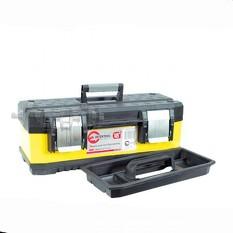 Ящик для инструментов с металлическими замками, 18 462x212x177 мм INTERTOOL