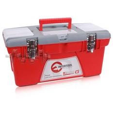 Ящик для инструментов с металлическими замками, 18 480x250x230 мм INTERTOOL