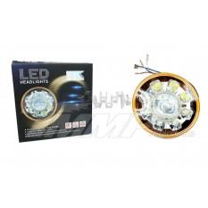 Вставка в фару светодиодная круглая   (D=16cm 21W, 8 лампочек, дальний/ближний)   EVO