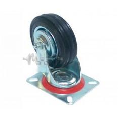 Колесо для тачек и платформ (литая резина) (в сборе с креплением, поворотное)   (100mm)   ELIT