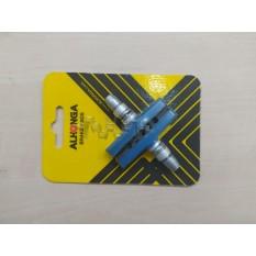 Колодки тормозные велосипедные (ободные, V-brake)   (синие)   (ALHONGA)   BDRK