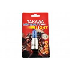 Лампа BA20D (2 уса)   12V 35W/35W   (супер синяя, высокая)   (блистер)   EVO