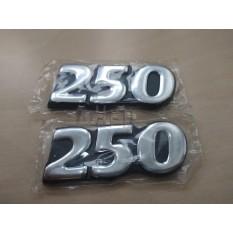 Наклейка   шильдик   250   (8x3см, 2шт, хром)   SEA