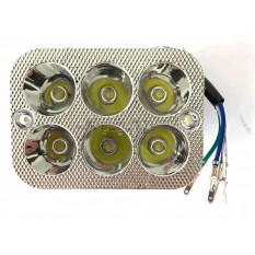 Оптика светодиодная прямоугольная   (крепеж 160mm, 6 диодов + подсветка)   DELTA   RG