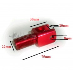 Переходник амортизатора   (под вилку, металл)   DVK