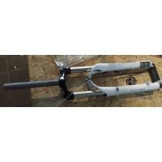 Вилка велосипедная амортизационная безрезьбовая   (27,5, белая , алюминий, V-Brake)   (MOZO Vigor-RL