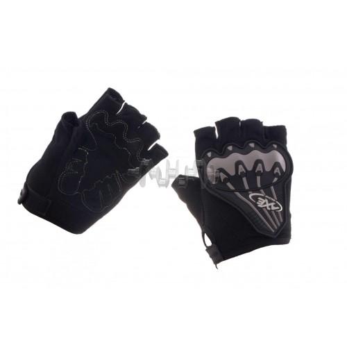 Велоперчатки (чорно-грифель, size L) AXE арт.P-5953