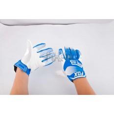 Перчатки DIRTPAW (mod:038, size:XL, синя-белые) FOX арт.P-4881