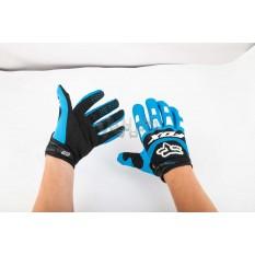 Перчатки FOX DIRTPAW (mod:028, size:M, сине-черные) арт.P-4801