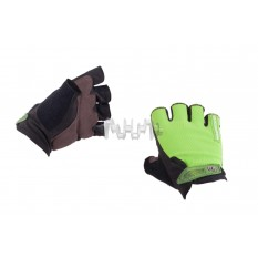 Перчатки без пальцев (size:L, зеленые) FOX арт.P-5001