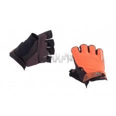 Рукавички без пальців (size: L, помаранчеві) FOX арт.P-5013