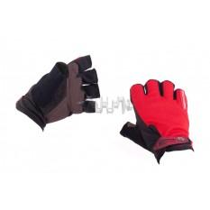 Перчатки без пальцев (size:M, красные) FOX арт.P-5011