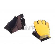 Рукавички без пальців (size: XL, жовті) FOX арт.P-5009